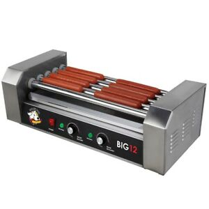 Hot Dog Roller Grill Cooker 12 Hot Dogs Table Top Use