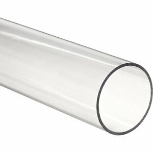 36 Polycarbonate Round Tube clear 3 3 4 Id X 4 Od X 1 8 Wall nominal