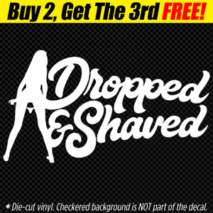 Dropped Shaved Decal Sticker Jdm Euro Vw Low Life Slammed Stance Panty Dropper