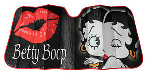 Betty Boop Air Blow Kiss Car Truck Front Windshield Accordion Folding Sun Shade