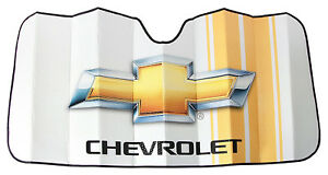 Chevy Bowtie Race Stripes Car Truck Front Windshield Accordion Folding Sun Shade
