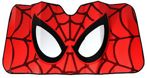 Marvel Spiderman Red Car Truck Front Windshield Accordion Folding Sun Shade