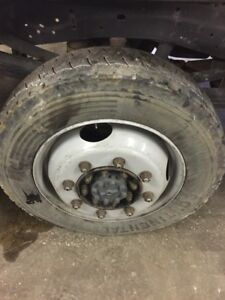1999 Thru 2015 Ford F250 F350 Srw 19 5 Tires Wheels With Spacers 8 Lug Axles