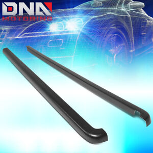 For 2001 2004 Toyota Tacoma Crew Cab Pair Black Bed Cap Truck Rail Cover Molding