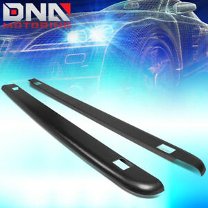 For 2007 2013 Silverado 5 8ft Bed Pair Black Truck Rail Cover Cap Molding W hole