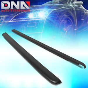For 2001 2004 Chevy S10 Crew Cab Satin Black Bed Cap Truck Rail Cover Molding