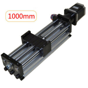 1000mm Electric Ball Screw Linear Cnc Slide Stage Actuator 24v 57 Stepper Motor
