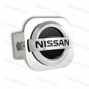 2 Trailer Receiver Chrome Stainless Steel Hitch Cap Plug For Nissan