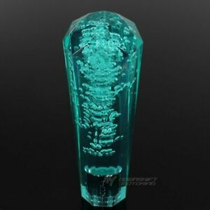 Jdm Vip Diamond Crystal Manual Bubble Shift Knob 150mm Teal For Toyota Jeep