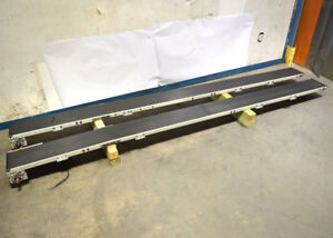 2 Qc 13 x10 Belt Conveyor Sections 1 motor reducer 90vdc 33 hp 20 1 Tenv