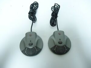 Lot Of 2 Polycom Soundstation Vtx1000 Ip 6000 Microphones 2201 07155 601