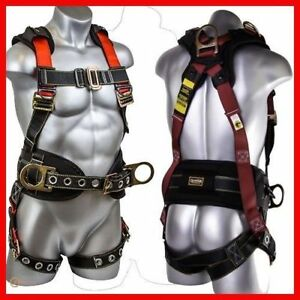 Harness For Construction Roofer Safety Kit Full Body Roofing Fall Protection M l