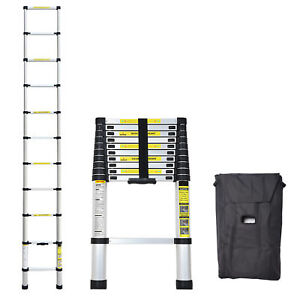 10 5 Ft 3 2m Multi purpose Aluminium Ladder Telescopic Extension Foldable Steps
