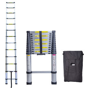 12 5ft 3 8m Multi purpose Aluminium Ladder Telescopic Extension Foldable Steps
