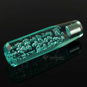 Jdm Octagon Crystal Vip Style Manual Shifter Shift Knob 150mm Teal Universal E