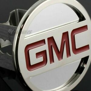 Gmc Stainless Steel Chrome Hitch Cover Cap Plug For 2 Trailer Tow Receiver