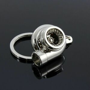 Chrome Bearing Spinning Turbo Charger Turbine Keychain Keyring For Dodge Ford