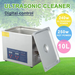 Stainless Steel 10l Professional Ultrasonic Cleaner Jewelry Cleaning Machine