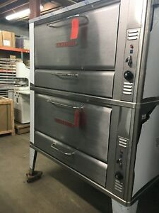 Blodgett 2 Stack Deck 966 Stainless Steel Roasting Baking Oven Bread Pies New