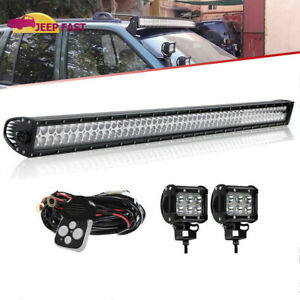 99 04 Jeep Grand Cherokee Wj 4wd 2wd Dot 50inch Led Light Bar W pods wiring Kit