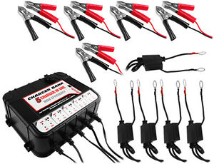 5 Bay 6 12v 3a Float Charger For Boat Lawn Tractor Car Motorcycle W Usb Ports
