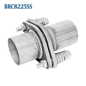 Brc8225ss 2 1 4 2 25 Id Stainless Exhaust Spherical Joint Spring Bolt Flange