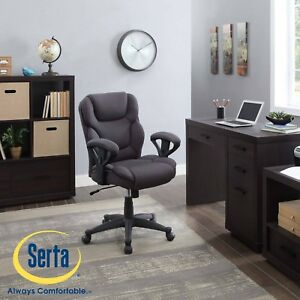 Manager Chair Computer Office Desk Back High Serta Gray Mesh Fabric Big And Tall