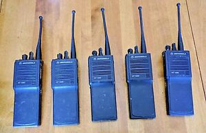 5 Motorola Ht1000s With Antenna H01sdc9aa3dn Uhf 450 512mhz