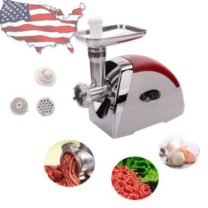 Us Electric Meat Grinder 2000w Kitchen Food Mincer Sausage Maker Home Appliances