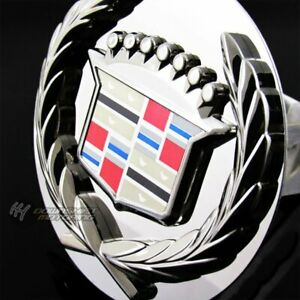 Chrome Cadillac Classic Style Towing Hitch Cover Cap Plug 1 25 Trailer Receiver