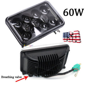 Dot Approved 60w 4x6 Cree Led Clear Headlight For Jeep Chevrolet Gmc Kenworth