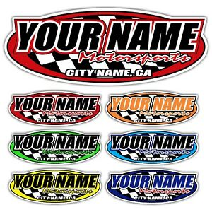 Custom Your Name Motorsports Decals Trailer Truck Mx Atv Race Car Go Kart Sprint