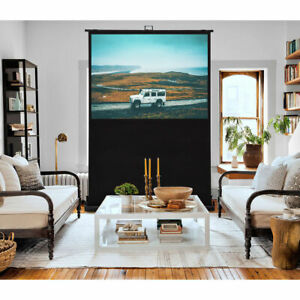 60 4 3 Portable Floor Pull Up Projection Screen Aluminium Case Home Theater