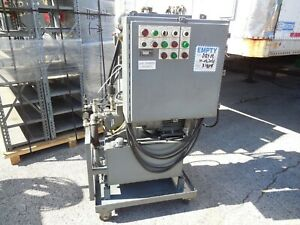 7 5 Hp Portable Hydraulic Power Unit Control Station Oilgear Pvwh15rsaycnnn