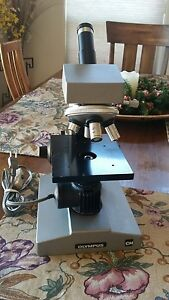 Olympus Ch Microscope With All Optics Complete Great Shape Works Well