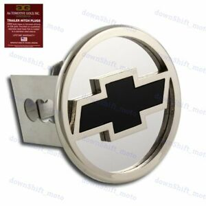 Chevrolet Chevy Stainless Steel Chrome Hitch Cover Cap Plug For 2 Tow Receiver
