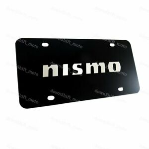 For Nissan Nismo Logo Front Stainless Steel License Plate Frame Authentic