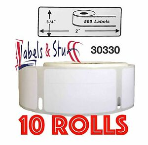 10 Rolls Of 500 Return Address Labels In Cartons For Dymo Labelwriters 30330