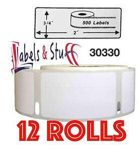 12 Rolls Of 500 Return Address Labels In Cartons For Dymo Labelwriters 30330