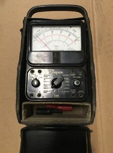 Vintage Simpson 260 Series 5 Volt Ohm Milliammeter With Leather Case