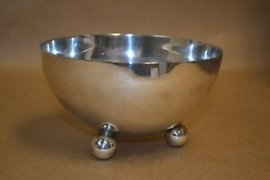 Juventino Lopez Reyes Mexican Sterling Silver Footed Bowl 5 3 4 244g