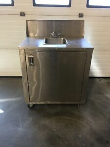 Crown Verity Stainless Steel Portable Hand Wash Sink W Water Heater Nsf Exc