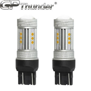 2x 1200 Lumens 7443 50w High Power Chip Led Amber Turn Signal Tail Lights Bulbs