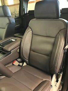 2014 2017 Gmc Sierra Crew Cab Katzkin Cocoa Dune Leather Seat Kit Java New