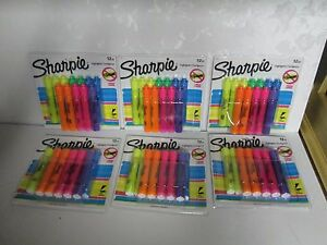 Sharpie Tank Style Highlighters 12ct Chisel Tip Assorted Colors Smear Guard
