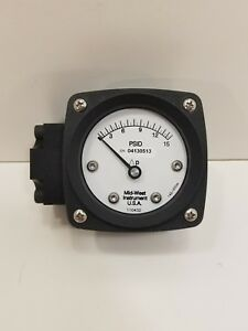 Midwest Instrument 142 aa 00 oo 15p Pressure Gauge 0 To 15 Psi
