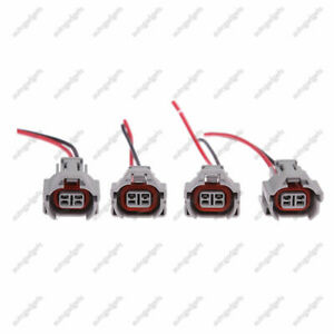 4 Pcs Set Denso Fuel Injector Connector Plug Pigtails Electrical High Impedance