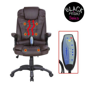 Executive Ergonomic Massage Chair Heated Vibrating Computer Office Desk