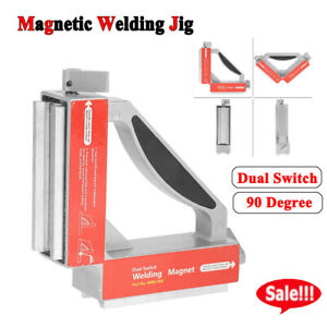 Dual Switch 90 Degree Magnet Welding Fixture Strong Magnetic Welder Jig Holder