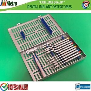 Dental Sinus Lift Osteotomes Convex Tip Mead Mallet Cassette High Quality Ss
